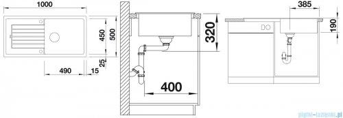 Blanco Zia XL 6 S Zlewozmywak Silgranit PuraDur kolor: tartufo  bez kor. aut. 517576