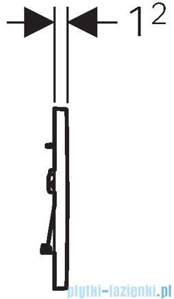 Geberit Sigma30 Przycisk uruchamiający przedni czarny/chrom błyszczący/czarny 115.883.KM.1