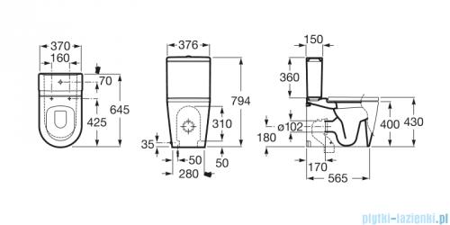 Roca Inspira Round miska do kompaktu wc o/podwójny A342527000