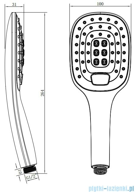 Omnires Davis X-R rączka prysznicowa 3-funkcyjna chrom DAVISX-RCR