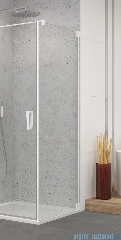 SanSwiss Cadura White Line ścianka boczna 80x200cm profile biały mat CAT10800907