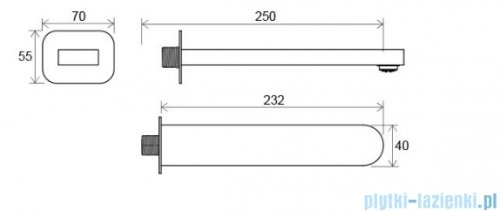 Ravak Chrome wylewka ścienna X07P113