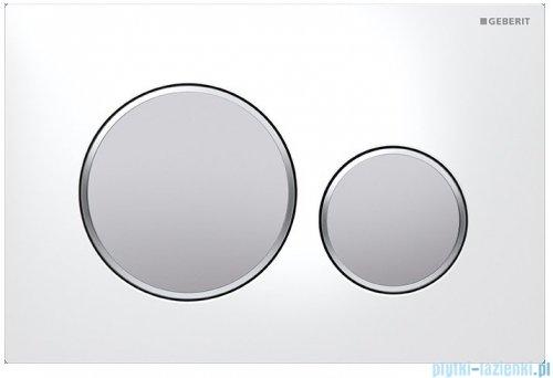 Geberit Sigma20 Przycisk uruchamiający biały/chrom matowy/chrom matowy 115.882.KL.1