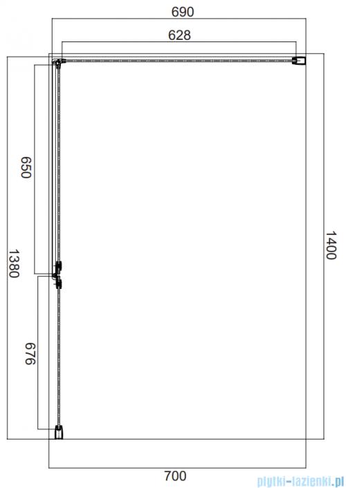 Omnires Manhattan kabina prostokątna 140x70cm szkło przejrzyste MH1470CRTR