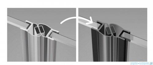 Radaway Furo Black KDD kabina 100x110cm szkło przejrzyste 10105100-54-01L/10105110-54-01R