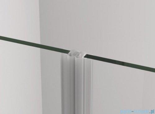 SanSwiss Cadura White Line drzwi wahadłowe 120cm jednoczęściowe prawe z polem stałym biały mat CA31CD1200907