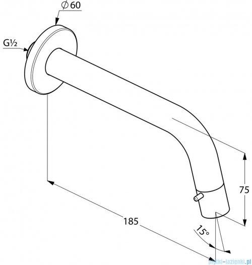 Kludi Bozz Zawór ścienny ze sterowaniem w wylewce DN 15 18,5cm chrom 380180530