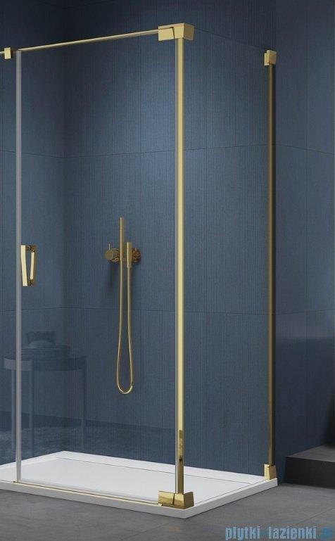 SanSwiss Cadura Gold Line ścianka boczna Cat2 100x200cm profile złote CAT21001207