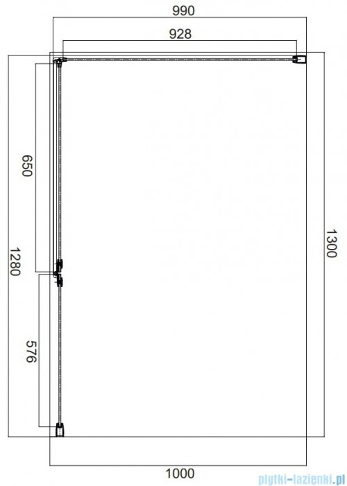 Omnires Manhattan kabina prostokątna 130x100cm szkło przejrzyste MH1310CRTR