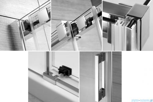 Espera KDJ Kabina Radaway prysznicowa 100x80 prawa szkło przejrzyste detale