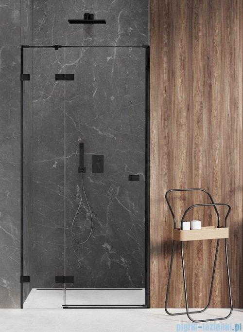 New Trendy Avexa Black drzwi wnękowe 100x200 cm przejrzyste lewa EXK-1550