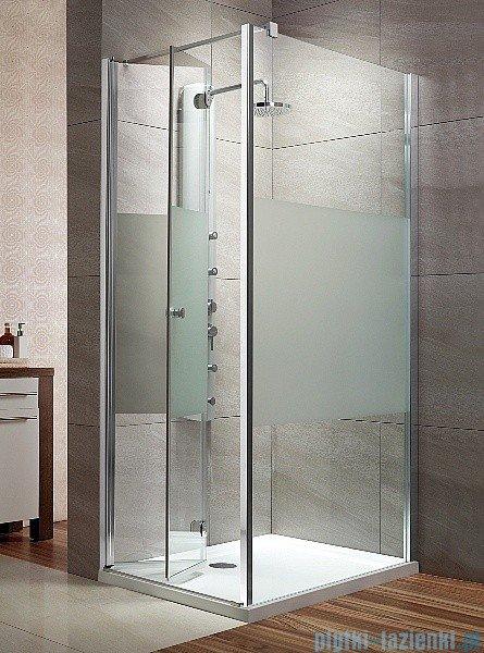 Radaway Eos KDJ-B kabina prysznicowa 80x80 lewa szkło przejrzyste + brodzik Delos C + syfon
