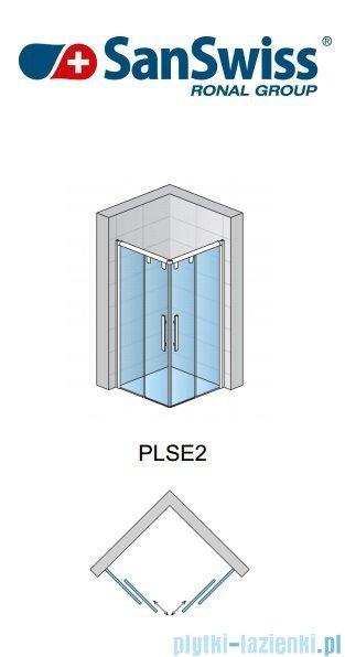 SanSwiss Pur Light S PLSE2 Drzwi narożne rozsuwane 80cm Prawe PLSE2D0805007