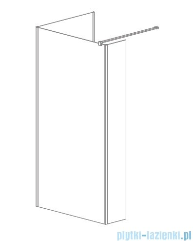 Radaway Modo New IV kabina Walk-in 140x80 szkło przejrzyste 389644-01-01/389084-01-01