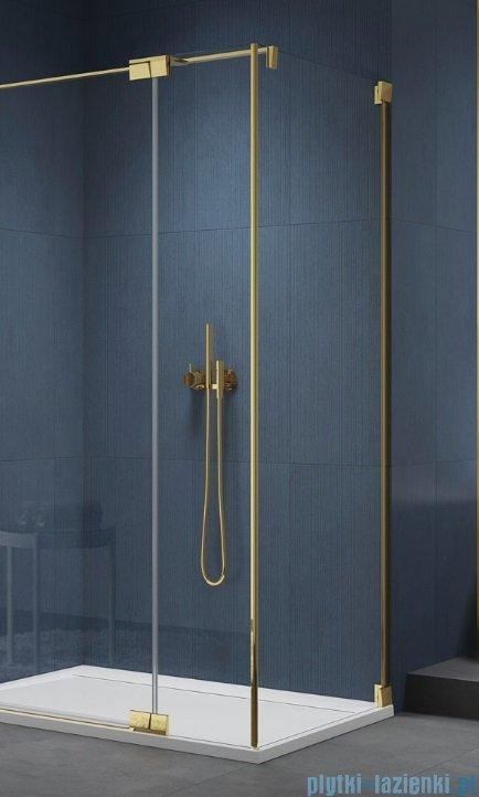 SanSwiss Cadura Gold Line ścianka boczna 75x200cm profile złote CAT30751207