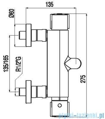 Tres Lex-Tres Bateria termostatyczna wannowa bez akcesoriów 1.81.174