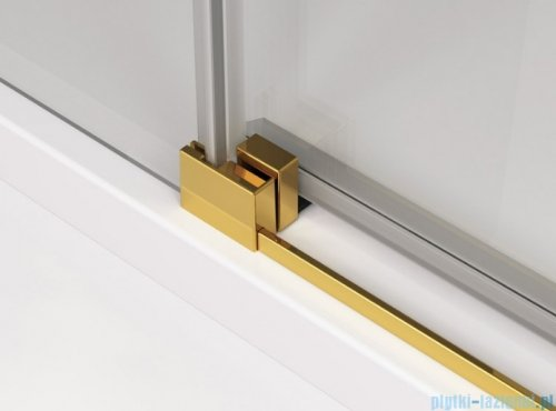 SanSwiss Cadura Gold Line drzwi przesuwne 90cm jednoskrzydłowe lewe z polem stałym CAE2G0901207