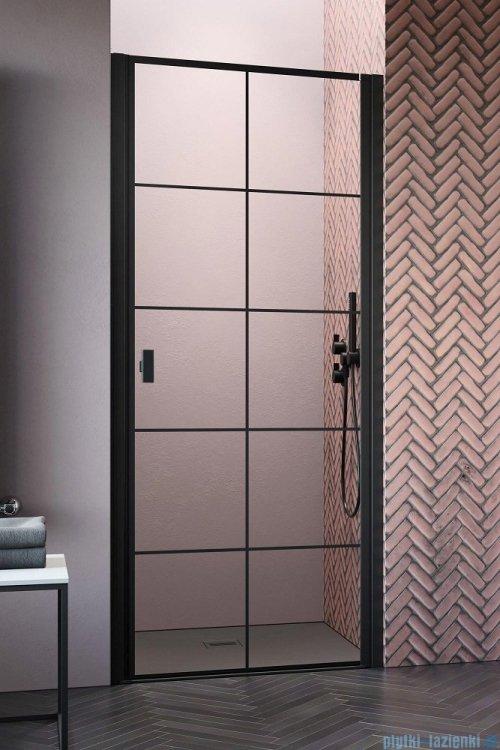 Radaway Nes Black Dwj I Factory Drzwi wnękowe 90cm prawe 10026090-54-55R, industrialny, loft