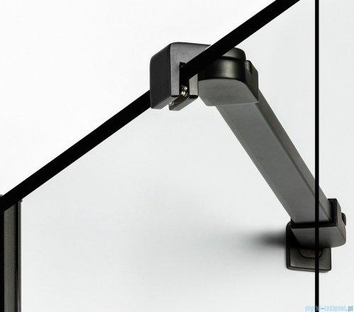 New Trendy New Renoma Black drzwi wnękowe 90x195 cm przejrzyste lewa D-0271A