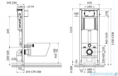 Cersanit Aqua 22 Mech QF Box stelaż podtynkowy do WC S97-048