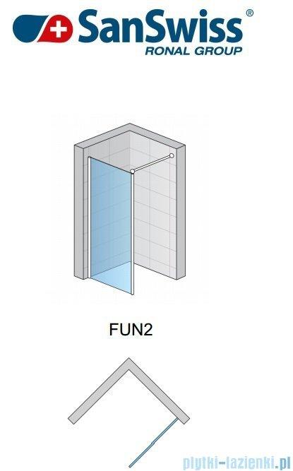 SanSwiss Fun Fun2 kabina Walk-in  70cm profil połysk FUN207005007