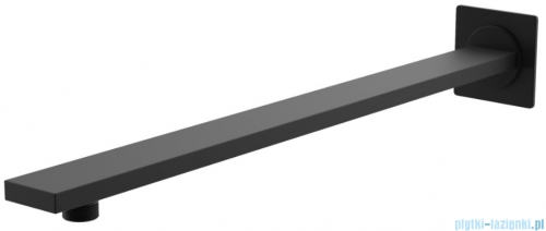 Kohlman Experience Black zestaw prysznicowy z deszczownicą kwadratową 25x25 cm czarny mat QW210EBQ25