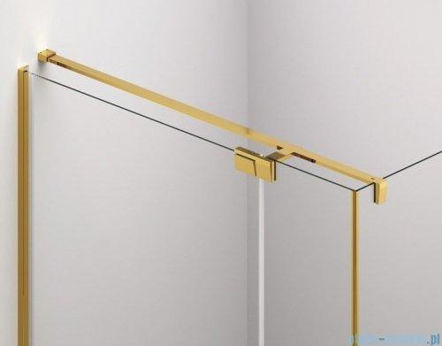 SanSwiss Cadura Gold Line drzwi wahadłowe 100 cm jednoczęściowe lewe z profilem przyściennym CA1CG1001207