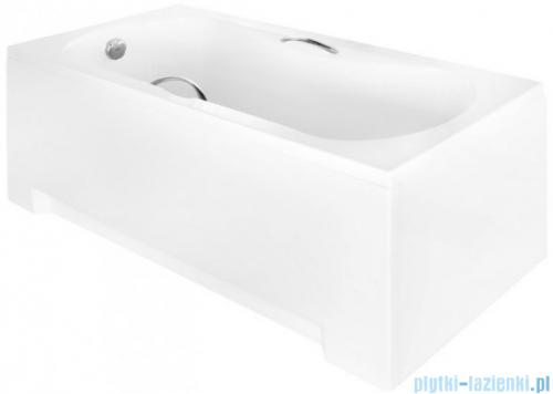 Besco Aria Plus 160x70cm wanna prostokątna z uchwytami + obudowa + syfon