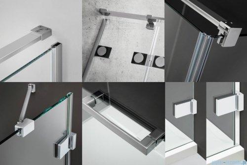 Radaway Euphoria KDJ Kabina prysznicowa 80x100 prawa szkło przejrzyste 383512-01R/383241-01R/383052-01