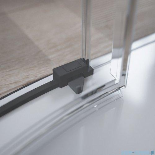 Radaway Idea Black Pdd kabina 100x80cm szkło przejrzyste 387139-01-01/387153-54-01