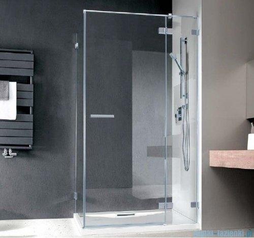 Radaway Euphoria KDJ Kabina prysznicowa 90x90 prawa szkło przejrzyste + brodzik Delos C + syfon