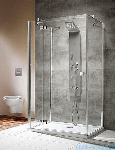 Radaway Kabina prysznicowa Almatea KDJ+S 90x80x90 lewa szkło przejrzyste + brodzik Doros D + syfon