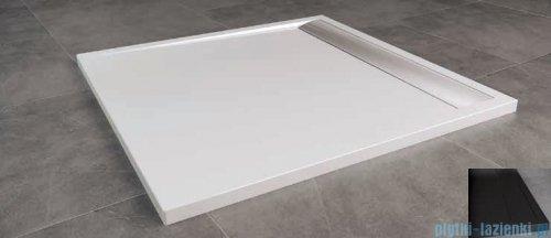 SanSwiss Ila WIQ Brodzik kwadratowy 80x80cm kolor czarny/czarny WIQ08006154