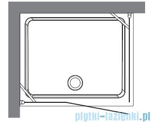 Kerasan Retro Kabina prostokątna prawa szkło przejrzyste profile brązowe 80x96 9141T3