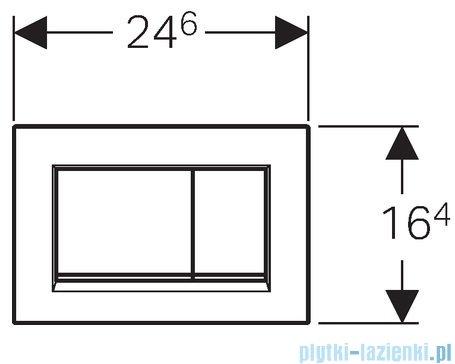 Geberit Sigma30 Przycisk uruchamiający przedni chrom matowy/chrom błyszczący/chrom matowy 115.883.KN.1