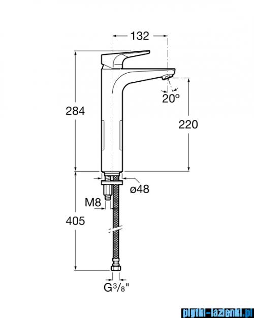 Roca Atlas bateria umywalkowa wysoka Cold Start bez korka A5A3790C00