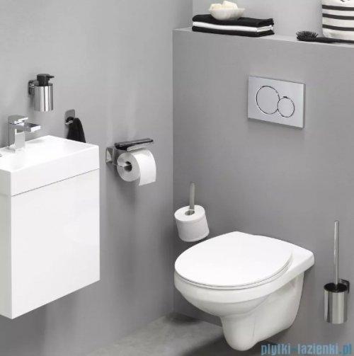 Tiger Colar Uchwyt na papier toaletowy z półką stal szczotkowana 13142.3.09.46