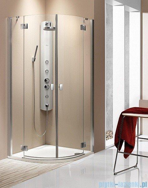 Radaway Kabina prysznicowa Essenza PDD E 90x80 szkło brązowe + brodzik Siros E Compact lewy + syfon