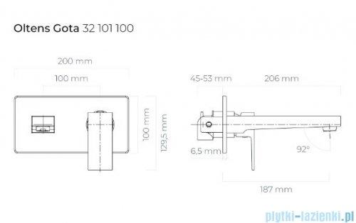 Oltens Gota bateria umywalkowa podtynkowa chrom 32101100