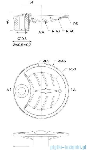 Oltens Aby mydelniczka okrągła przezroczysta 84200500