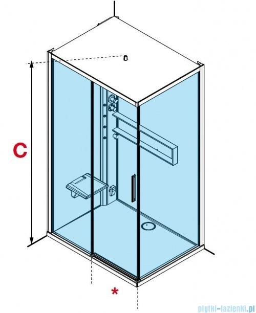 Novellini Glax 2 2.0 kabina z hydromasażem hydro plus 120x80 lewa total biała G222P129SM1L-1UU