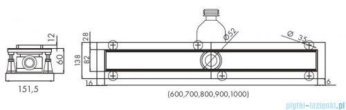 Schedpol Base-Low odpływ liniowy z maskownicą Steel 70x8x6,5cm OLSL70/ST-LOW