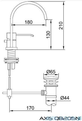 Kohlman Axis 2-otworowa bateria umywalkowa QB205N