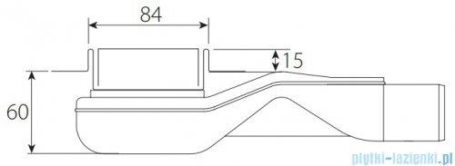 Wiper New Premium Pure Odpływ liniowy z kołnierzem 80 cm szlif 100.1973.02.080