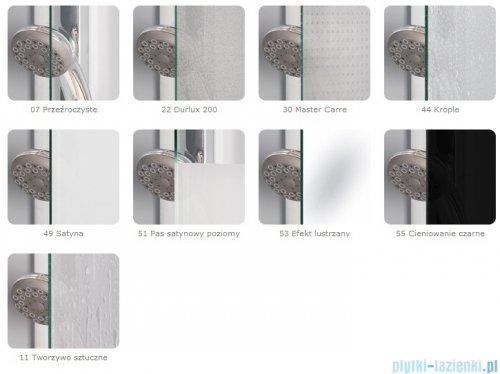 SanSwiss Pur P3P Kabina półokrągła 80cm profil chrom szkło przezroczyste Prawa P3PD500801007