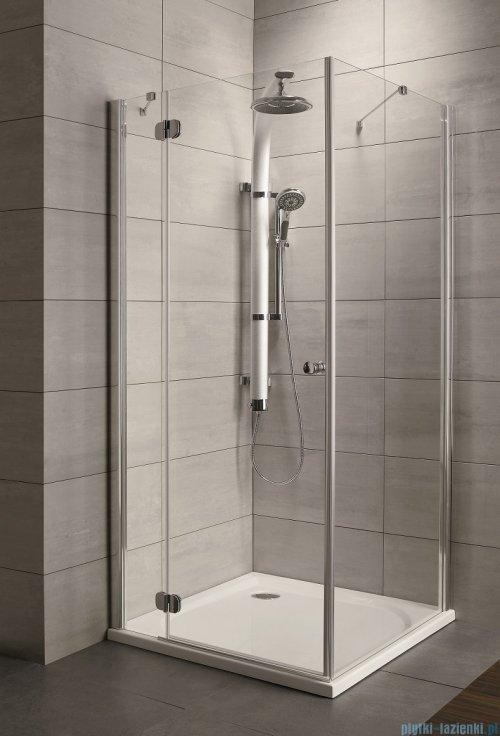 Radaway Torrenta Kdj Kabina prysznicowa 90x80 lewa szkło przejrzyste + brodzik Doros D + syfon montaż na posadzce