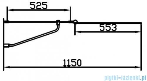 Omnires QP Mayfair parawan nawannowy 2-częściowy 115x140 cm przejrzysta prawy QP95B-PLUXCRTR