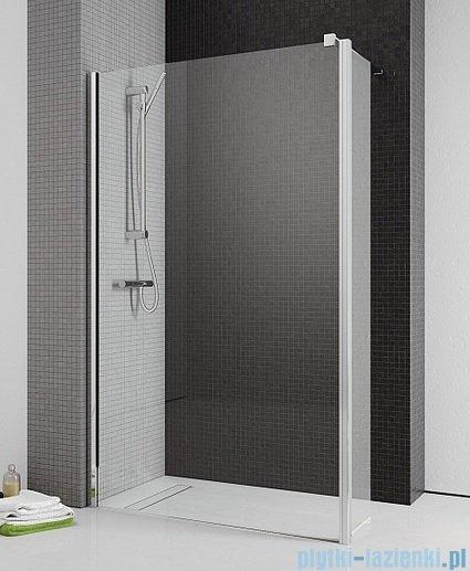 Radaway Eos II Walk-in kabina prysznicowa 80 lewa szkło przejrzyste + brodzik Delos C + syfon
