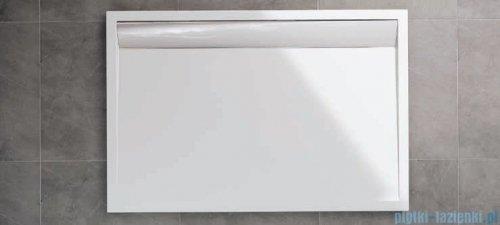 SanSwiss WIA Brodzik konglomeratowy prostokątny 80x90cm czarny/czarny WIA8009006154