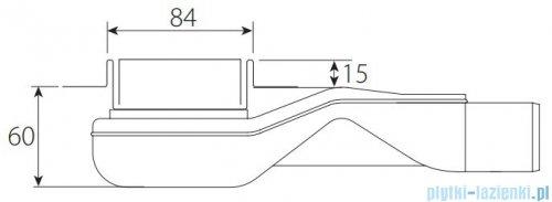 Wiper New Premium Zonda Odpływ liniowy z kołnierzem 100 cm poler rysunek techniczny